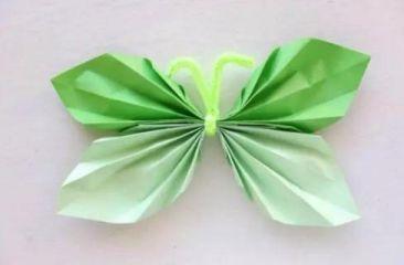 纸蝴蝶折纸步骤图解教程