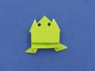 会跳的折纸青蛙制作教程图解