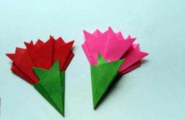 梅花折纸花步骤图解教程