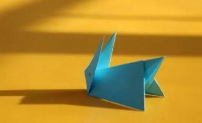立体小兔子折纸的图解方法