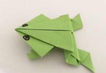 好看的手工折纸青蛙步骤图解
