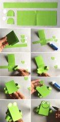 金鱼手工折纸教程:幼儿动物手工折纸金鱼