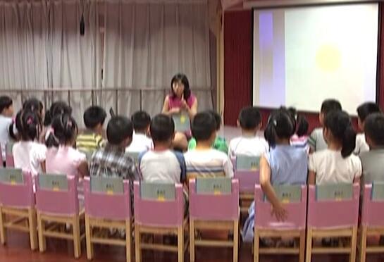 大班语言活动:黄雨伞
